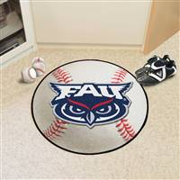 "Florida Atlantic Owls Baseball Rug 29"" Diameter"