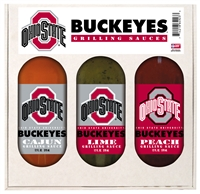 Ohio State Buckeyes Grilling Gift Set 3-12 oz (Cajun, Lime and Peach)