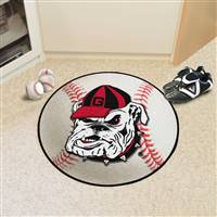 "Georgia Bulldogs Baseball Rug 29"" Diameter"