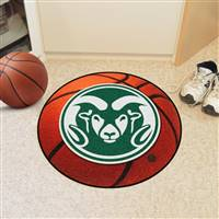 "Colorado State Rams Basketball Rug 29"" diameter"