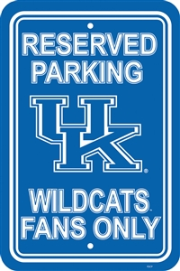 "Kentucky Wildcats 12"" x 18"" Plastic Parking Sign"