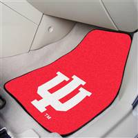 "Indiana Hoosiers 2-piece Carpeted Car Mats 18""x27"""