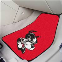 "Boston University Terriers 2-piece Carpeted Car Mats 18""x27"""