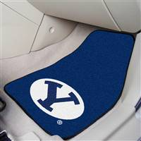 "Brigham Young BYU Cougars 2-piece Carpeted Car Mats 18""x27"""