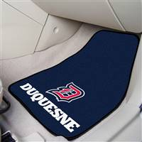 "Duquesne Dukes 2-piece Carpeted Car Mats 18""x27"""