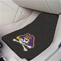 "East Carolina Pirates 2-piece Carpeted Car Mats 18""x27"""