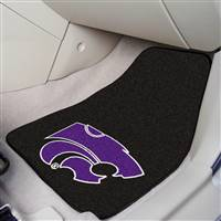 "Kansas State Wildcats 2-piece Carpeted Car Mats 18""x27"""