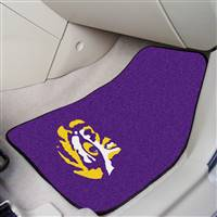"Louisiana State LSU Tigers 2-piece Carpeted Car Mats 18""x27"""