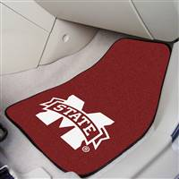 "Mississippi State Bulldogs 2-piece Carpeted Car Mats 18""x27"""