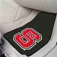 "North Carolina State Wolfpack 2-piece Carpeted Car Mats 18""x27"""