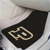 "Purdue Boilermakers 2-piece Carpeted Car Mats 18""x27"""