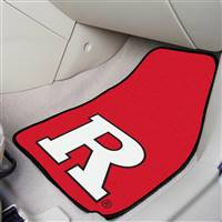 "Rutgers Scarlet Knights 2-piece Carpeted Car Mats 18""x27"""