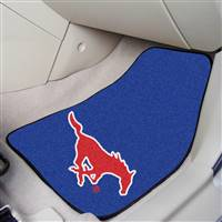 "Southern Methodist Mustangs 2-piece Carpeted Car Mats 18""x27"""