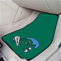 "Tulane Green Wave 2-piece Carpeted Car Mats 18""x27"""