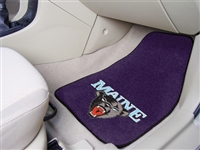 "Maine Black Bears 2-piece Carpeted Car Mats 18""x27"""