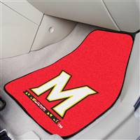 "Maryland Terrapins 2-piece Carpeted Car Mats 18""x27"""