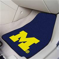 "Michigan Wolverines 2-piece Carpeted Car Mats 18""x27"""
