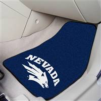 "Nevada Wolf Pack 2-piece Carpeted Car Mats 18""x27"""
