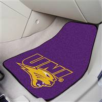 "Northern Iowa Panthers 2-piece Carpeted Car Mats 18""x27"""