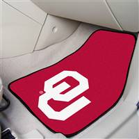 "Oklahoma Sooners 2-piece Carpeted Car Mats 18""x27"""