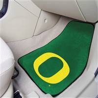 "Oregon Ducks 2-piece Carpeted Car Mats 18""x27"""