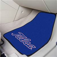 "Tulsa Golden Hurricane 2-piece Carpeted Car Mats 18""x27"""