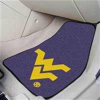 "West Virginia Mountaineers 2-piece Carpeted Car Mats 18""x27"""