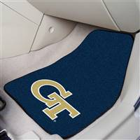 "Georgia Tech Yellow Jackets 2-piece Carpeted Car Mats 18""x27"""
