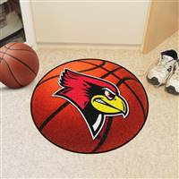 "Illinois State Redbirds Basketball Rug 29"" diameter"