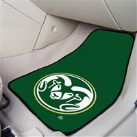 "Colorado State Rams 2-piece Carpeted Car Mats 18""x27"""