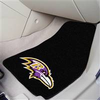 "Baltimore Ravens 2-Piece Carpeted Car Mats 18""x27"""