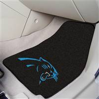 "Carolina Panthers 2-Piece Carpeted Car Mats 18""x27"""