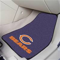 "Chicago Bears 2-Piece Carpeted Car Mats 18""x27"""