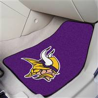 "Minnesota Vikings 2-piece Carpeted Car Mats 18""x27"""