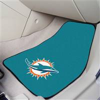 "Miami Dolphins 2-Piece Carpeted Car Mats 18""x27"""