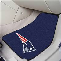 "New England Patriots 2-piece Carpeted Car Mats 18""x27"""