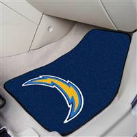 "San Diego Chargers 2-piece Carpeted Car Mats 18""x27"""