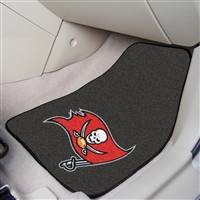 "Tampa Bay Buccaneers 2-Piece Carpeted Car Mats 18""x27"""