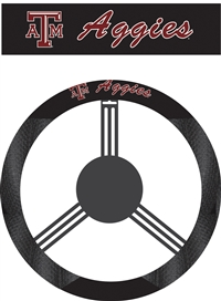 Texas A & M Aggies Steering Wheel Cover (Poly-Suede)