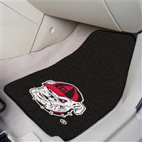 "Georgia Bulldogs Mascot 2-piece Carpeted Car Mats 18""x27"", Black"