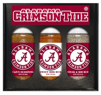 Alabama Crimson Tide Boxed Set of 3 (Cajun Seas,Steak/Rib Rub, BBQ Rub)