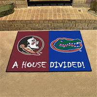 "Florida State Seminoles - Florida Gators House Divided Rug 34""x45"""