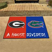 "Georgia Bulldogs - Florida Gators House Divided Rug 34""x45"""
