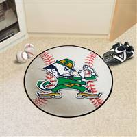 "Notre Dame Fighting Irish Baseball Rug 29"" diameter"