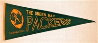 Green Bay Packers Throwback Mid-Size Wool Pennant