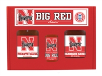 Nebraska Huskers TailGate Set (Hot Sauce, BBQ and Salsa)