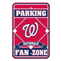 Washington Nationals Plastic Parking Sign