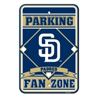 San Diego Padres Plastic Parking Sign