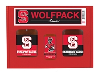 North Carolina State Wolfpack TailGate Set (Hot Sauce, BBQ and Salsa)