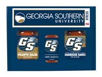 Georgia Southern Eagles TailGate Set (Hot Sauce, BBQ and Salsa)